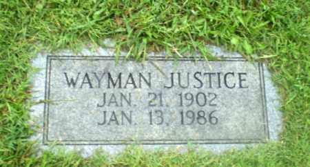 JUSTICE, WAYMAN - Greene County, Arkansas | WAYMAN JUSTICE - Arkansas Gravestone Photos
