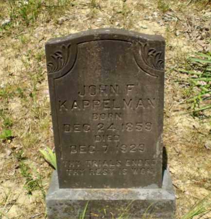 KAPPELMAN, JOHN F - Greene County, Arkansas | JOHN F KAPPELMAN - Arkansas Gravestone Photos