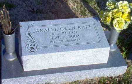 OWEN KATZ, JANALEE - Greene County, Arkansas | JANALEE OWEN KATZ - Arkansas Gravestone Photos