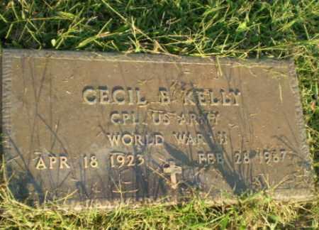 KELLY  (VETERAN WWII), CECIL B - Greene County, Arkansas   CECIL B KELLY  (VETERAN WWII) - Arkansas Gravestone Photos