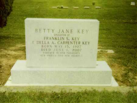 KEY, BETTY JANE - Greene County, Arkansas | BETTY JANE KEY - Arkansas Gravestone Photos