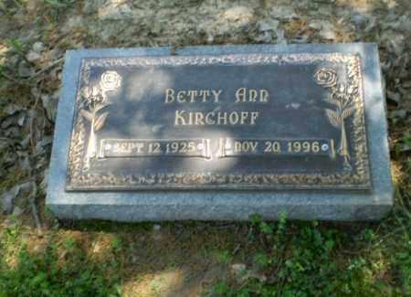 KIRCHOFF, BETTY ANN - Greene County, Arkansas | BETTY ANN KIRCHOFF - Arkansas Gravestone Photos