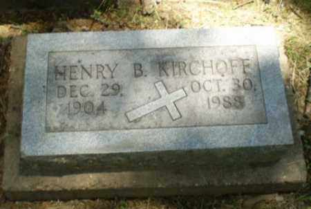 KIRCHOFF, HENRY B - Greene County, Arkansas | HENRY B KIRCHOFF - Arkansas Gravestone Photos