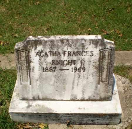 KNIGHT, AGATHA FRANCES - Greene County, Arkansas | AGATHA FRANCES KNIGHT - Arkansas Gravestone Photos