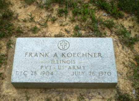 KOECHNER  (VETERAN), FRANK A - Greene County, Arkansas | FRANK A KOECHNER  (VETERAN) - Arkansas Gravestone Photos