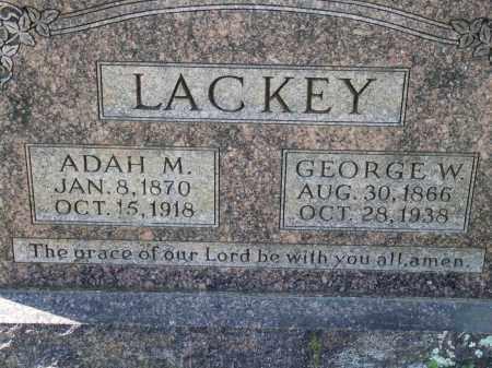 LACKEY, ADAH M. - Greene County, Arkansas | ADAH M. LACKEY - Arkansas Gravestone Photos