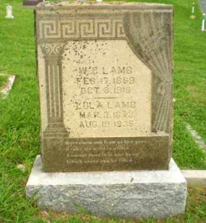LAMB, W.C. - Greene County, Arkansas | W.C. LAMB - Arkansas Gravestone Photos