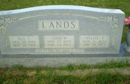LANDS, WILLIE E - Greene County, Arkansas | WILLIE E LANDS - Arkansas Gravestone Photos