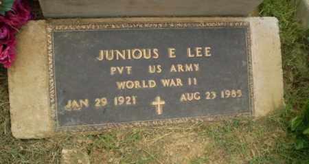 LEE  (VETERAN WWII), JUNIOUS E - Greene County, Arkansas | JUNIOUS E LEE  (VETERAN WWII) - Arkansas Gravestone Photos