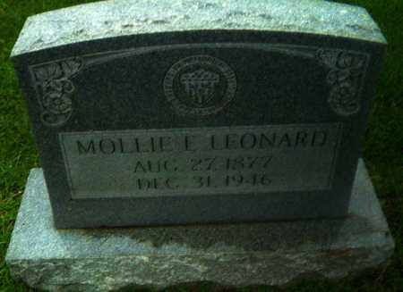 LEONARD, MOLLIE E - Greene County, Arkansas | MOLLIE E LEONARD - Arkansas Gravestone Photos