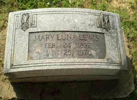 LUNA LEWIS, MARY - Greene County, Arkansas | MARY LUNA LEWIS - Arkansas Gravestone Photos