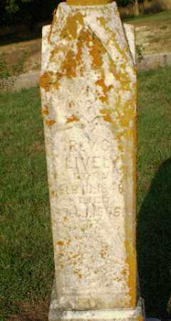LIVELY, REV, G, - Greene County, Arkansas | G, LIVELY, REV - Arkansas Gravestone Photos
