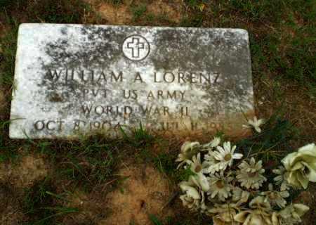 LORENZ  (VETERAN WWII), WILLIAM A - Greene County, Arkansas   WILLIAM A LORENZ  (VETERAN WWII) - Arkansas Gravestone Photos