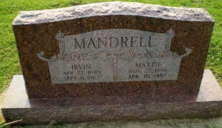 MANDRELL, IRVIN - Greene County, Arkansas | IRVIN MANDRELL - Arkansas Gravestone Photos