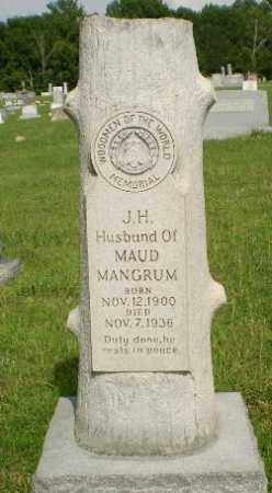 MANGRUM, J.H. - Greene County, Arkansas   J.H. MANGRUM - Arkansas Gravestone Photos