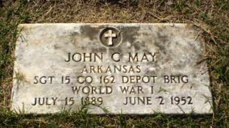 MAY  (VETERAN WWI), JOHN C - Greene County, Arkansas | JOHN C MAY  (VETERAN WWI) - Arkansas Gravestone Photos