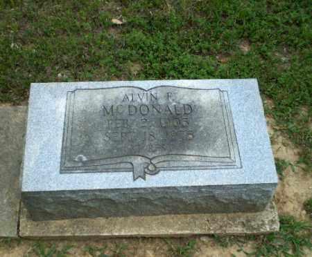 MCDONALD, ALVIN F - Greene County, Arkansas | ALVIN F MCDONALD - Arkansas Gravestone Photos
