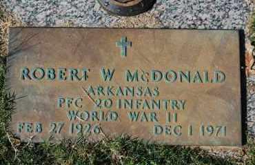 MCDONALD (VETERAN WWII), ROBERT W - Greene County, Arkansas   ROBERT W MCDONALD (VETERAN WWII) - Arkansas Gravestone Photos