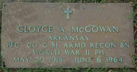 MCGOWAN (VETERAN WWII), CLOYCE A - Greene County, Arkansas | CLOYCE A MCGOWAN (VETERAN WWII) - Arkansas Gravestone Photos