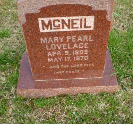 LOVELACE MCNEIL, MARY PEARL - Greene County, Arkansas | MARY PEARL LOVELACE MCNEIL - Arkansas Gravestone Photos