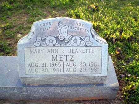 METZ, MARY ANN - Greene County, Arkansas   MARY ANN METZ - Arkansas Gravestone Photos