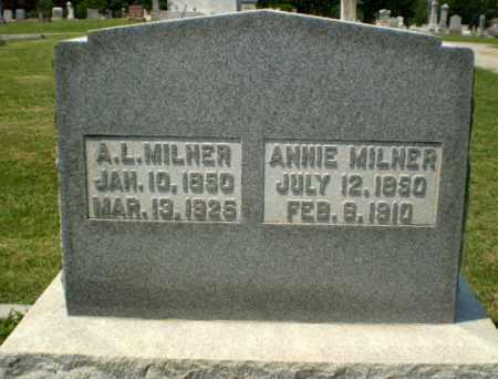 MILNER, ANNIE - Greene County, Arkansas   ANNIE MILNER - Arkansas Gravestone Photos