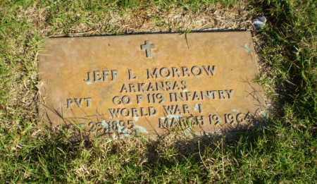 MORROW (VETERAN WWI), JEFF L - Greene County, Arkansas | JEFF L MORROW (VETERAN WWI) - Arkansas Gravestone Photos