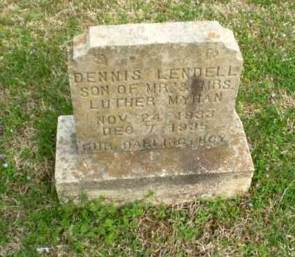 MYHAN, DENNIS LENDELL - Greene County, Arkansas   DENNIS LENDELL MYHAN - Arkansas Gravestone Photos