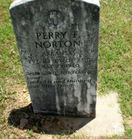 NORTON  (VETERAN), PERRY F - Greene County, Arkansas   PERRY F NORTON  (VETERAN) - Arkansas Gravestone Photos