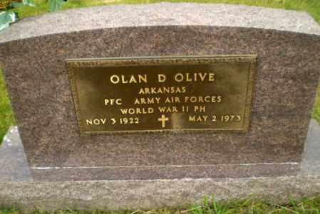 OLIVE  (VETERAN WWII), OLAN D - Greene County, Arkansas | OLAN D OLIVE  (VETERAN WWII) - Arkansas Gravestone Photos