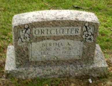 ORTCUTTER, BERTHA A - Greene County, Arkansas   BERTHA A ORTCUTTER - Arkansas Gravestone Photos