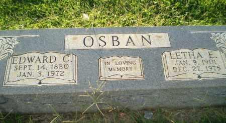 OSBAN, EDWARD C - Greene County, Arkansas   EDWARD C OSBAN - Arkansas Gravestone Photos