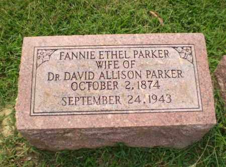 PARKER, FANNIE ETHEL - Greene County, Arkansas   FANNIE ETHEL PARKER - Arkansas Gravestone Photos