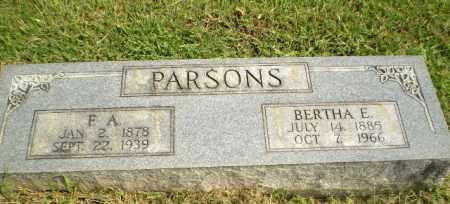 PARSONS, BERTHA E - Greene County, Arkansas   BERTHA E PARSONS - Arkansas Gravestone Photos