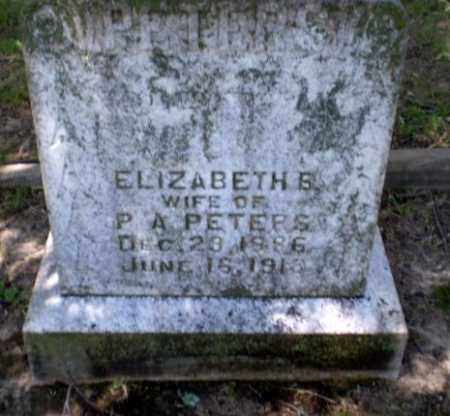 PETERS, ELIZABETH B - Greene County, Arkansas | ELIZABETH B PETERS - Arkansas Gravestone Photos
