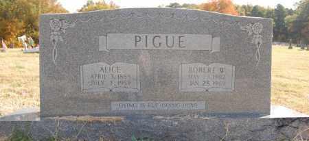 PIGUE, ALICE - Greene County, Arkansas | ALICE PIGUE - Arkansas Gravestone Photos