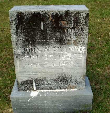 PILLOW, JOHN W - Greene County, Arkansas | JOHN W PILLOW - Arkansas Gravestone Photos