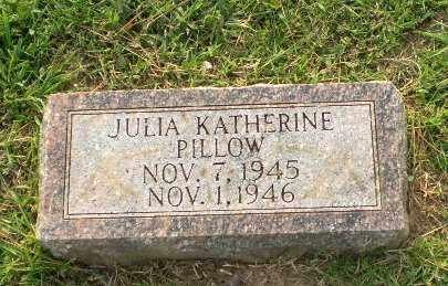 PILLOW, JULIA KATHERINE - Greene County, Arkansas | JULIA KATHERINE PILLOW - Arkansas Gravestone Photos
