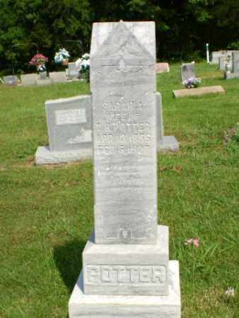 POTTER, SARAH A - Greene County, Arkansas   SARAH A POTTER - Arkansas Gravestone Photos