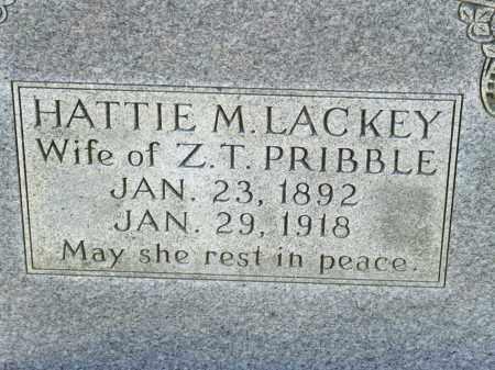 LACKEY PRIBBLE, HATTIE M. - Greene County, Arkansas | HATTIE M. LACKEY PRIBBLE - Arkansas Gravestone Photos