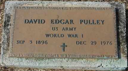 PULLEY (VETERAN WWI), DAVID EDGAR - Greene County, Arkansas | DAVID EDGAR PULLEY (VETERAN WWI) - Arkansas Gravestone Photos