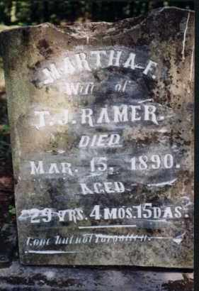 STARNES RAMER, MARTHA F - Greene County, Arkansas | MARTHA F STARNES RAMER - Arkansas Gravestone Photos