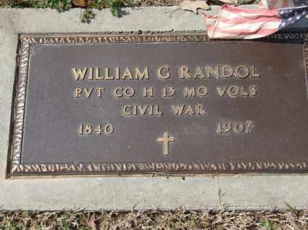 RANDOL, WILLIAM G. - Greene County, Arkansas   WILLIAM G. RANDOL - Arkansas Gravestone Photos