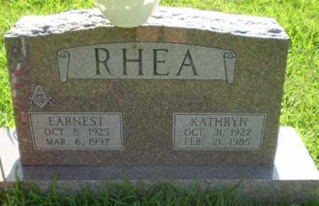 RHEA  (VETERAN WWII), EARNEST - Greene County, Arkansas   EARNEST RHEA  (VETERAN WWII) - Arkansas Gravestone Photos