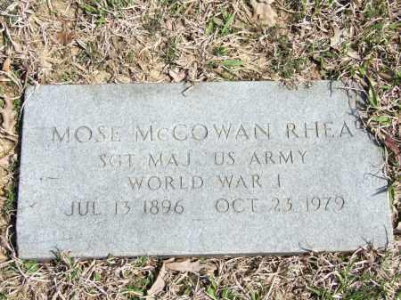 RHEA (VETERAN WWI), MOSE MCCOWAN - Greene County, Arkansas | MOSE MCCOWAN RHEA (VETERAN WWI) - Arkansas Gravestone Photos