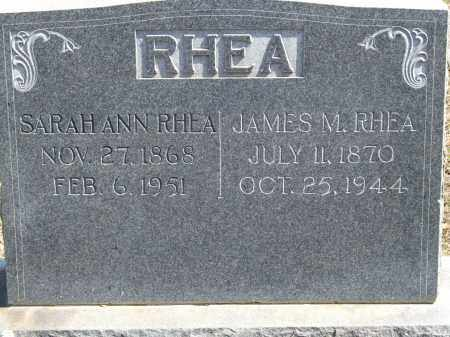 RHEA, JAMES M. - Greene County, Arkansas | JAMES M. RHEA - Arkansas Gravestone Photos
