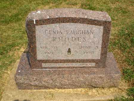 VAUGHAN RHODES, GENIA - Greene County, Arkansas | GENIA VAUGHAN RHODES - Arkansas Gravestone Photos