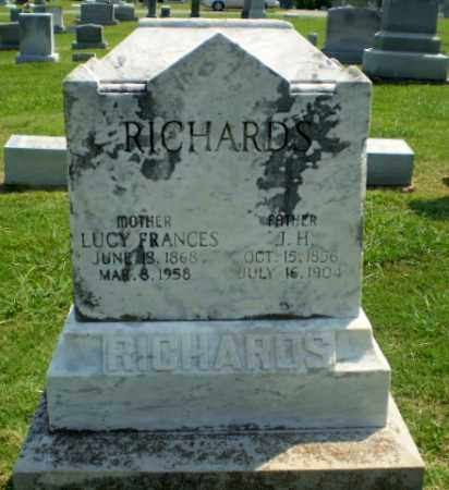 RICHARDS, LUCY FRANCES - Greene County, Arkansas | LUCY FRANCES RICHARDS - Arkansas Gravestone Photos