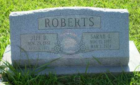 ROBERTS, JEFF D - Greene County, Arkansas | JEFF D ROBERTS - Arkansas Gravestone Photos