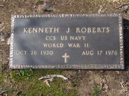 ROBERTS (VETERAN WWII), KENNETH J. - Greene County, Arkansas | KENNETH J. ROBERTS (VETERAN WWII) - Arkansas Gravestone Photos